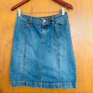 cAbi Jean Skirt Size 0